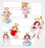 Angel speech card Royalty Free Stock Photos