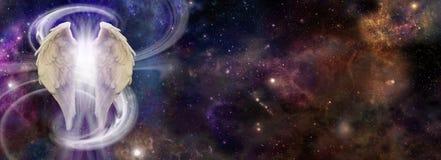 Angel Spirit im Weltraum stock abbildung