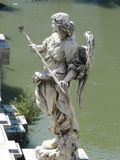 Angel With The Sponge, Castel SantAngelo rome Royalty-vrije Stock Foto