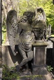 The Angel from the spring mystery old Prague Cemetery, Czech Republic Royalty Free Stock Image