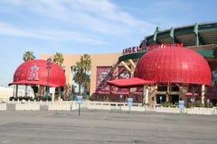 Angel Stadium. Main entrance to the Angel Baseball Stadium in Anaheim, CA Stock Image