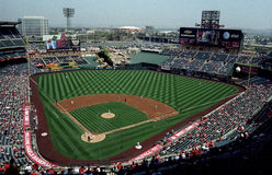 Angel Stadium of Anaheim Stock Photos