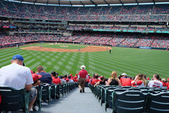 Angel Stadium of Anaheim: Los Angeles-Engel lizenzfreies stockfoto