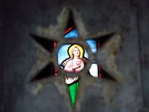 Angel Stained Glass durch einen Stern Lizenzfreie Stockfotos