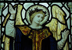 Angel in stained glass Stock Image
