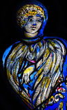 Angel in stained glass. A photo of an Angel in stained glass stock images