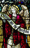An angel in stained glass Stock Photos