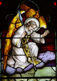 Angel. A stained glass photo a an angel with wings Royalty Free Stock Photos