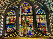 Angel Stained Glass Santa Maria Novella Church Florence Italy arkivfoto