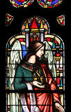 Angel, stained glass window from Saint Germain-l`Auxerrois church, Paris. Angel, stained glass window from Saint Germain l`Auxerrois church, Paris, France royalty free stock image