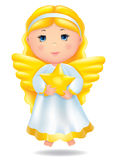 Angel with star Royalty Free Stock Image
