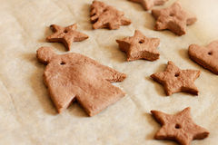 Angel and star cookies for Christmas Stock Images
