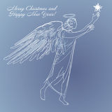 Angel-star-holiday Royalty Free Stock Photos