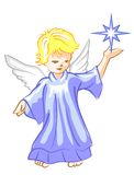 Angel with Star Lightl Royalty Free Stock Images