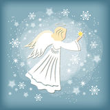 Angel. With star. Vector illustration Royalty Free Stock Photos