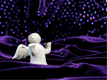 Angel in Stars. Statue of a Prayer Angle in Stars Stock Photography