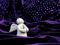 Angel in Stars. Statue of a Prayer Angle in Stars Stock Photos