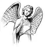 Angel Statue ilustração do vetor