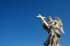 Angel statue. On Ponte del Angelo in Rome Royalty Free Stock Photography
