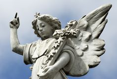 Angel Statue. Image of a Stone Angel stock images