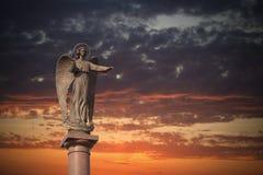 Angel Statue Royaltyfria Foton