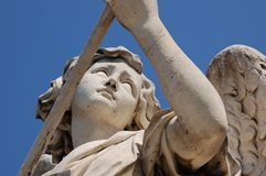 Angel statue. On bridge in front at Castel Sant'Angelo in Rome, Italy Stock Photo