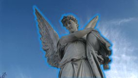 Angel. Statue against the sky stock video