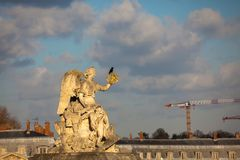 Free Angel Statue At The Entrance Of The Versailles Palace In A Freezing Winter Day Just Before Spring Stock Images - 124921734