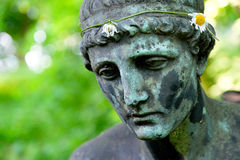 Angel Statue caido fotografía de archivo