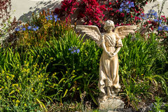 Angel statue. At Carmel by the sea Mision, california, highway 1 stock photos