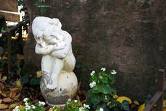 Angel statue at cementery Stock Image