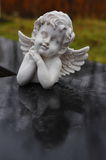 Angel statue in cemetery Royalty Free Stock Images