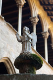 Angel statue at cloister of Pedralbes Monastery Royalty Free Stock Photo