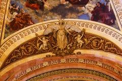 Angel Statue Frescos San Francisco el Grande Madrid Spain Royalty Free Stock Photos