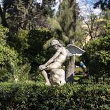 Angel statue in the garden Royalty Free Stock Photos