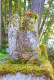 Angel Statue in Graveyard Royalty Free Stock Photo