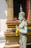 Angel statue with hands clasped in Thailand temple. Royalty Free Stock Photos
