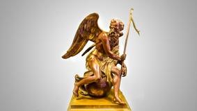 Angel Statue idoso fotografia de stock