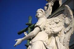 Angel statue of Karlskirche church in Vienna, Austria Royalty Free Stock Image