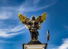 Angel Statue in Kiev de Oekraïne stock foto