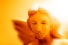 Angel Statue med vingar för fred arkivfoto