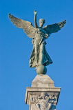 Angel Statue in Montreal. On a sunny day with clear blue sky Stock Images