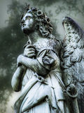 Angel Statue. Monument in Texas Cemetery Stock Photography