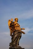 Angel statue at Ponte S. Angelo in Rome, Italy Royalty Free Stock Images