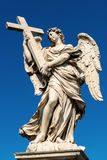 Angel statue on the Ponte Sant`Angelo in Rome Royalty Free Stock Photo