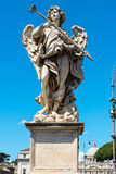 Angel statue on the Ponte Sant`Angelo in Rome Royalty Free Stock Photography