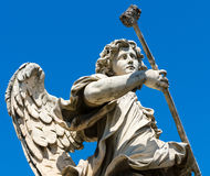 Angel statue on the Ponte Sant`Angelo in Rome Royalty Free Stock Images