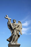 Angel statue on the Ponte Sant Angelo in Rome, Italy Royalty Free Stock Photography