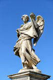 Angel statue on the Ponte Sant`Angelo in Rome Royalty Free Stock Photos