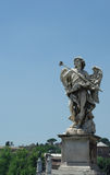 Angel statue in Rome Stock Image